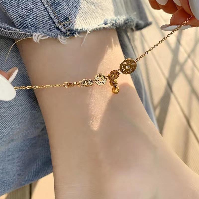 夏天怎么可以少了脚链~  钛钢脚链不掉色性感网红铃铛脚链❤️