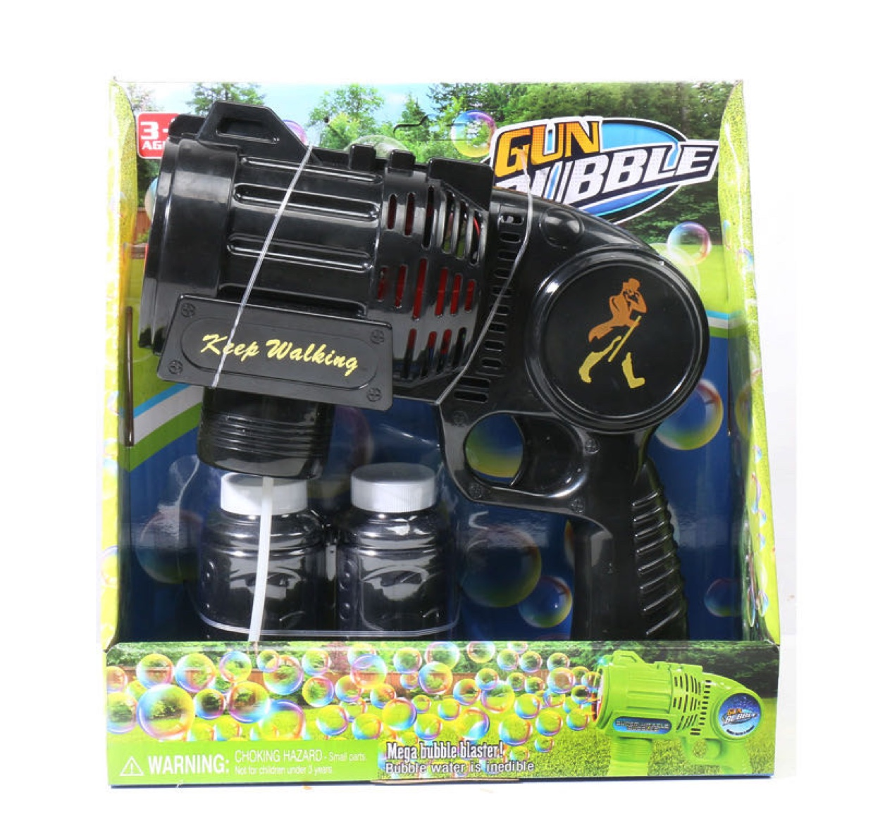 舞台表演网红多孔出泡6孔大号电动泡泡枪儿童全自动吹泡泡机玩具