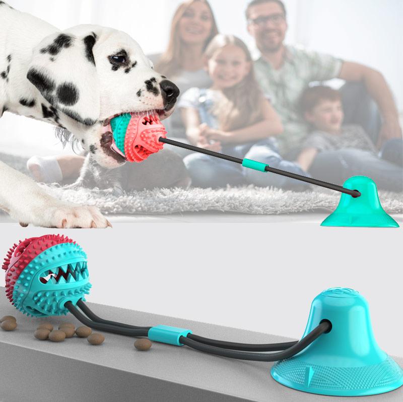宠物用品吸盘拉力多功能狗狗玩具双层洁齿凸点设计厂家直销