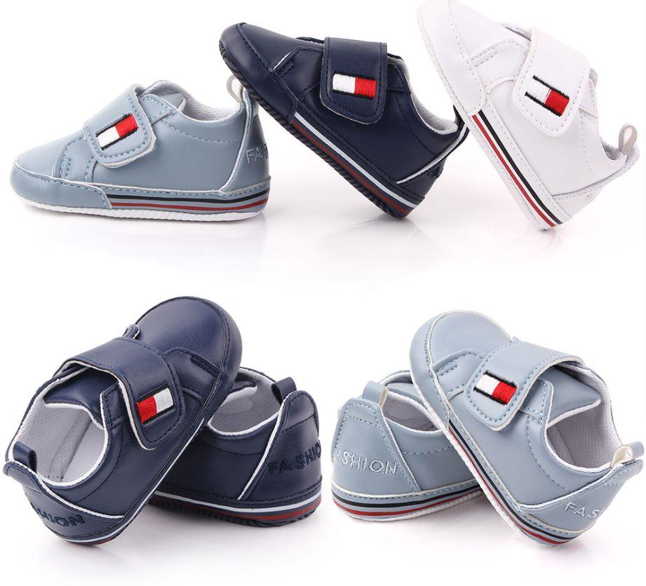 春秋0-1岁男女宝宝休闲运动软底婴儿学步鞋 PU皮宝宝鞋批发