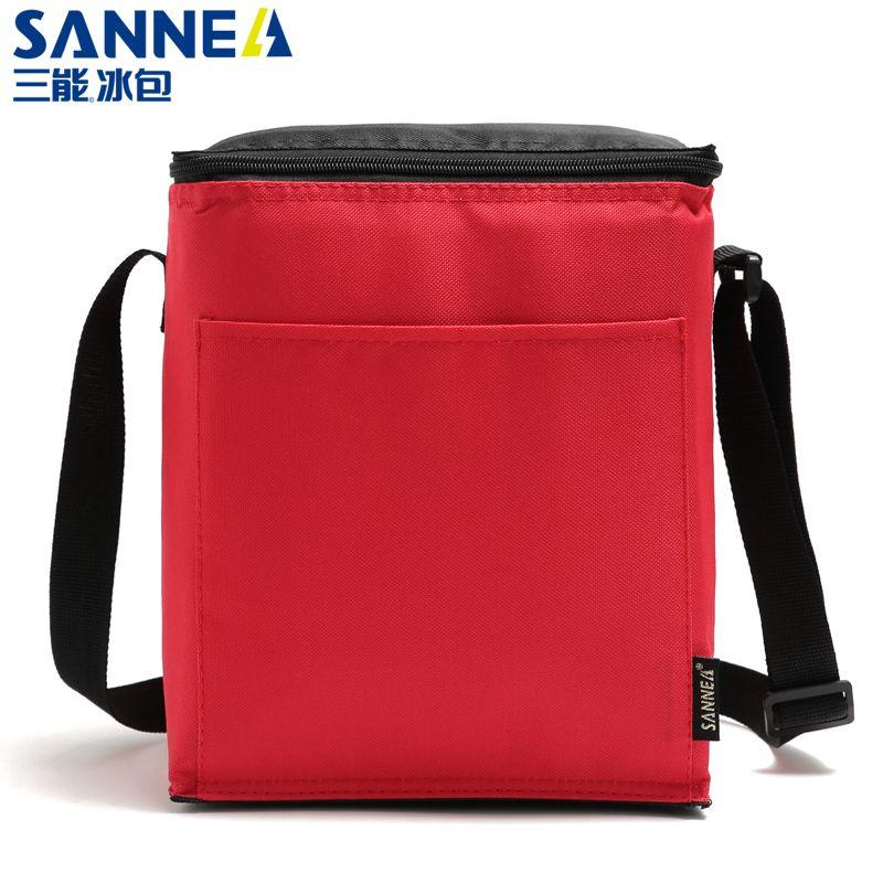 SANNE新款保温包 亚马逊午餐斜挎纯色便当包野餐保鲜冰包饭盒袋