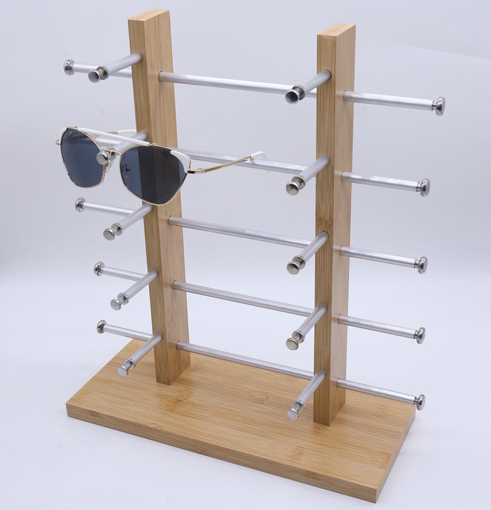 义乌好货 10付木质眼镜展示架 近视太阳镜墨镜展示小道具