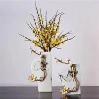 中国风珐琅彩陶瓷造型花瓶摆件
