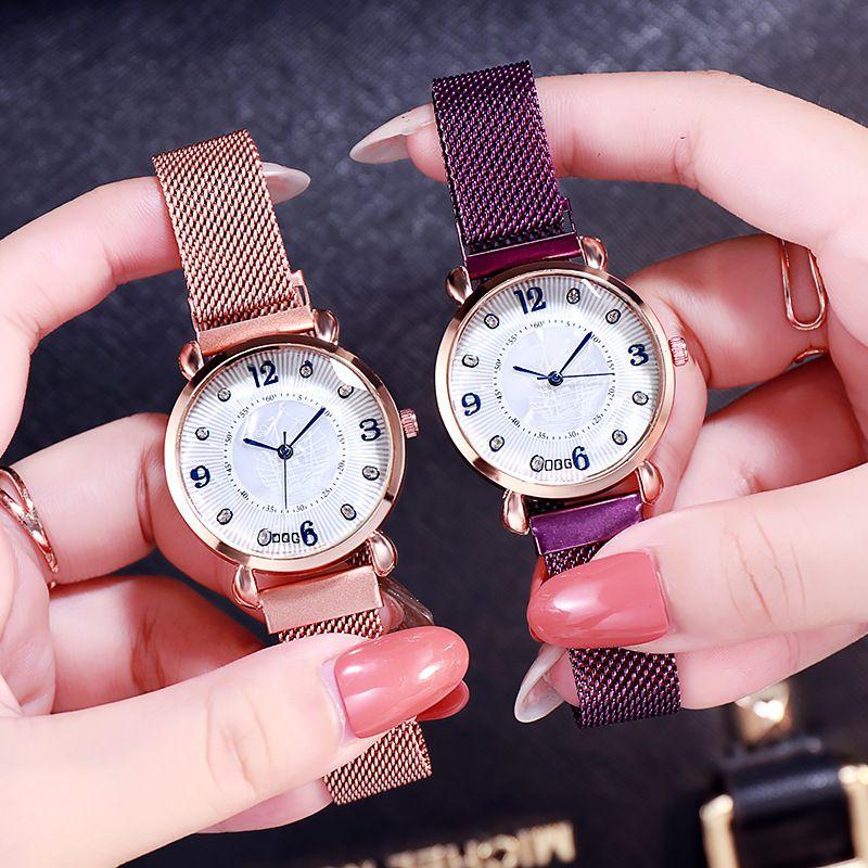 厂家直销女士腕表懒人手表数字简约石英表一件代发