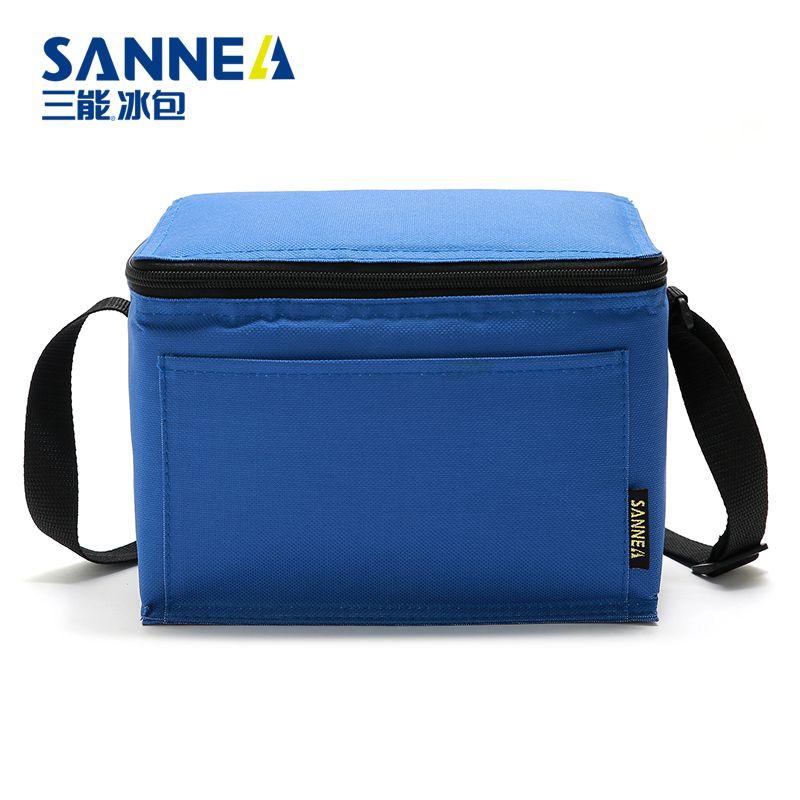 SANNE新款纯色便当包手提餐包午餐袋饭盒袋野餐包防水保温冰包