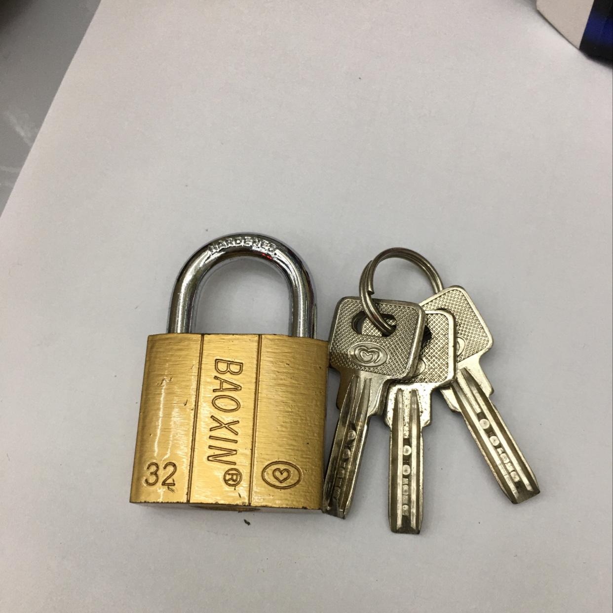 锁,原子锁,仿铜挂锁32mm