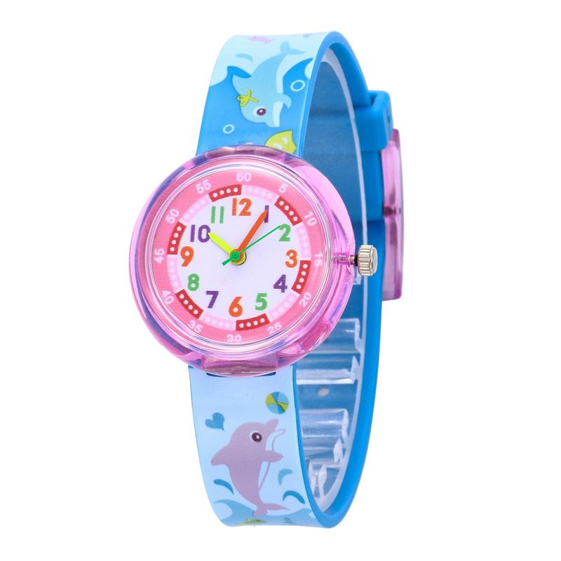 塑胶PVC手表小清新儿童卡图案手表18820/195