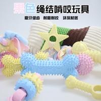 厂家直销宠物玩具TPR材料环保耐咬磨牙狗狗用品棉绳布条玩具