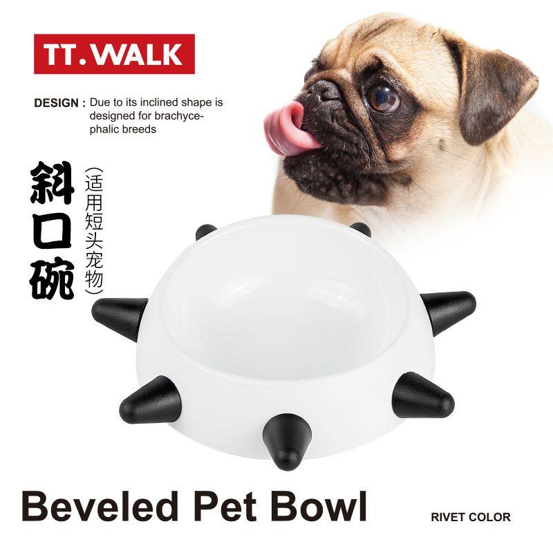 新款时尚喂食猫碗 饮水盆 宠物柳钉狗碗 钉子碗 宠物狗进食盘