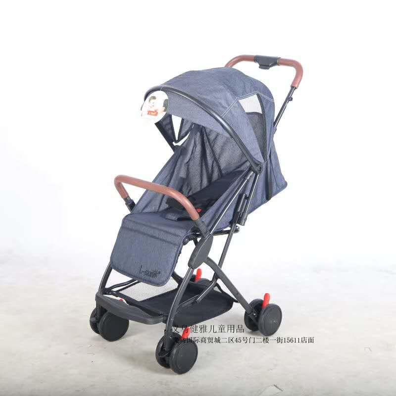 带拉杆轻便式婴儿推车前轮万向轮可折叠直接带上飞机宝宝推车