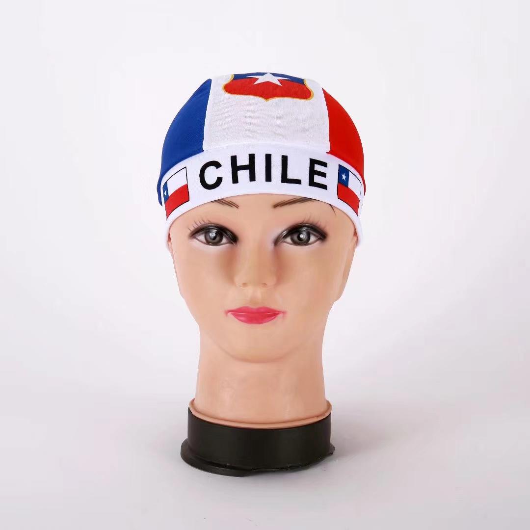 厂家直销供应汽车小挂旗,各国国旗,球迷用品,智利针织帽