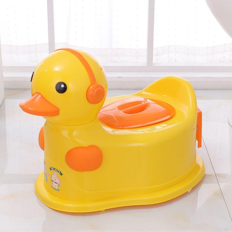 直销现货批发儿童马桶带扶手耳机卡通便盆尿盆坐便儿童座便器8106
