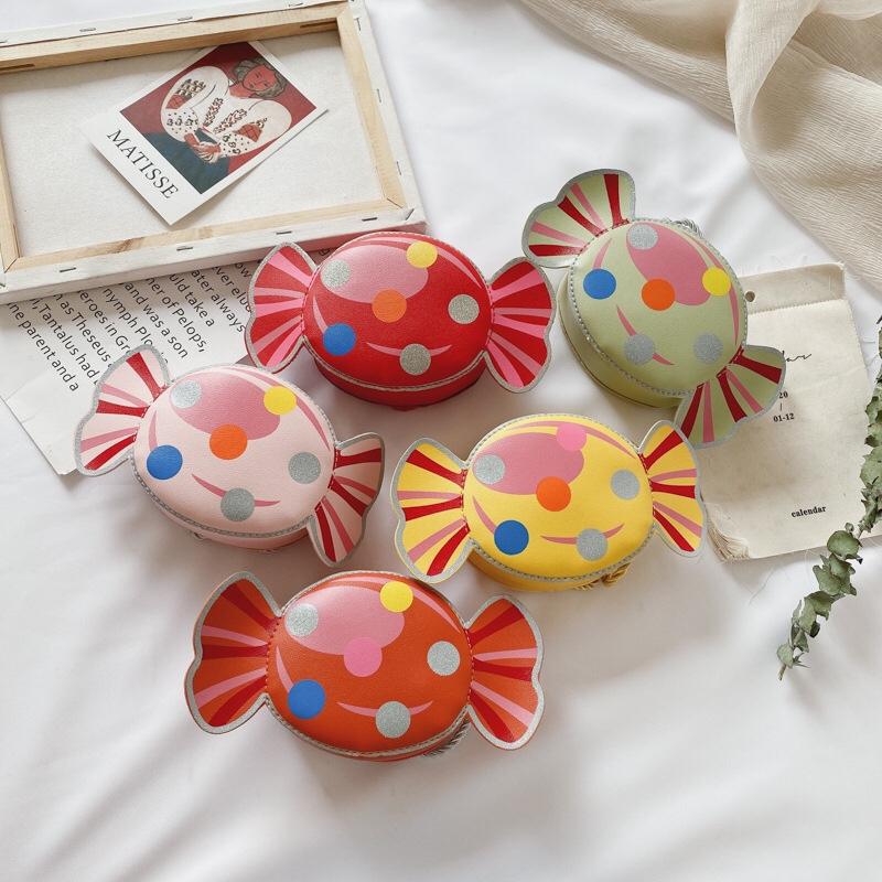 韩版幼儿斜挎包糖果儿童单肩包包公主可爱装饰包包迷你零钱包包