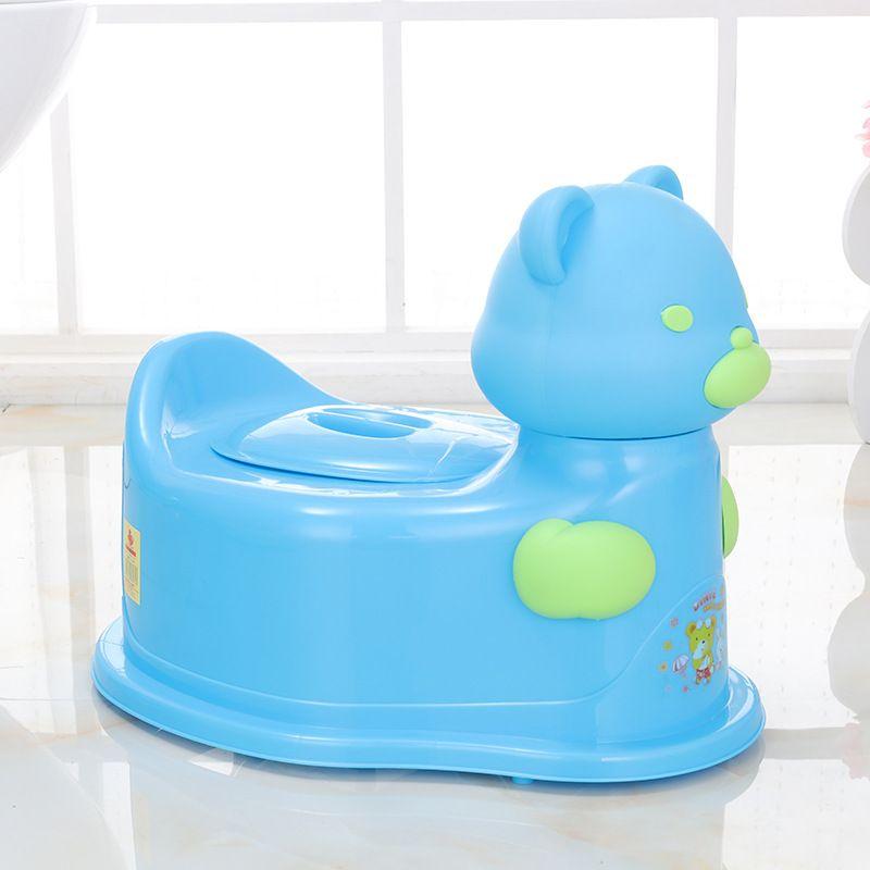 直销儿童座便器科幻熊造型抽屉式便槽磨砂质便盆8075