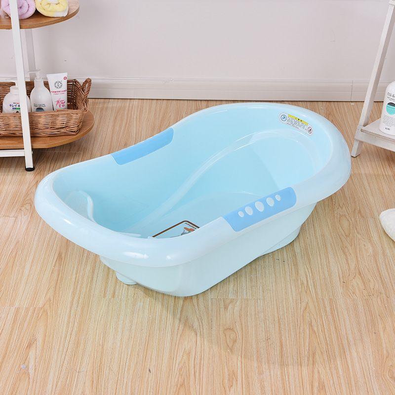 现货儿童洗澡盆加大加厚宝宝洗护沐浴防滑可排水婴儿浴盆8086