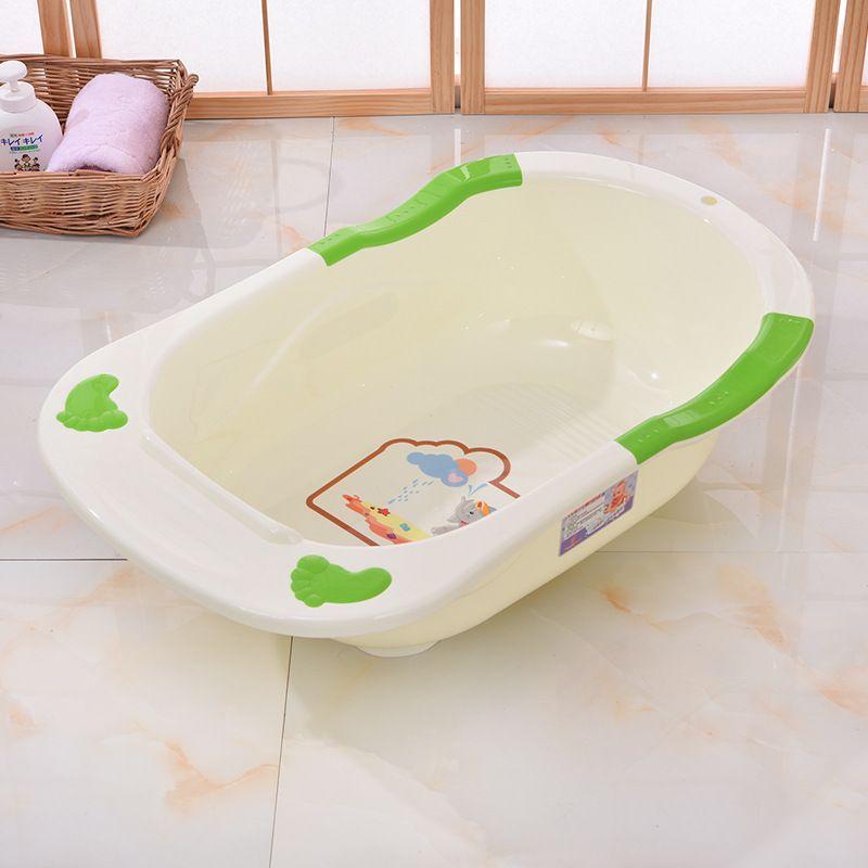 儿童洗澡盆泡澡加厚婴幼儿洗护盆多色可坐躺无漏水婴儿浴盆8083