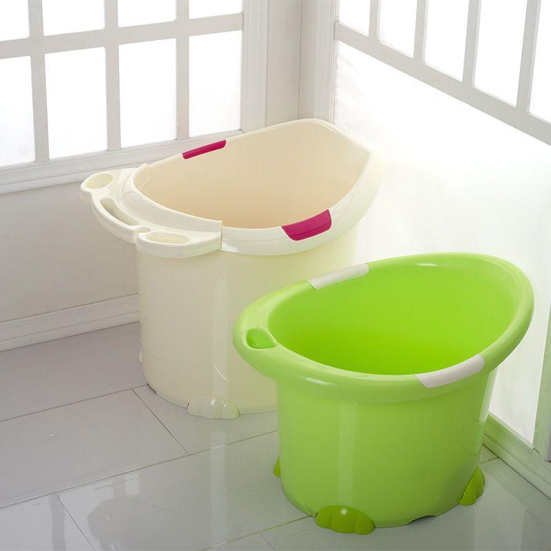 直销儿童塑料泡澡桶 防滑婴儿沐浴桶 加厚加大宝宝洗澡桶032