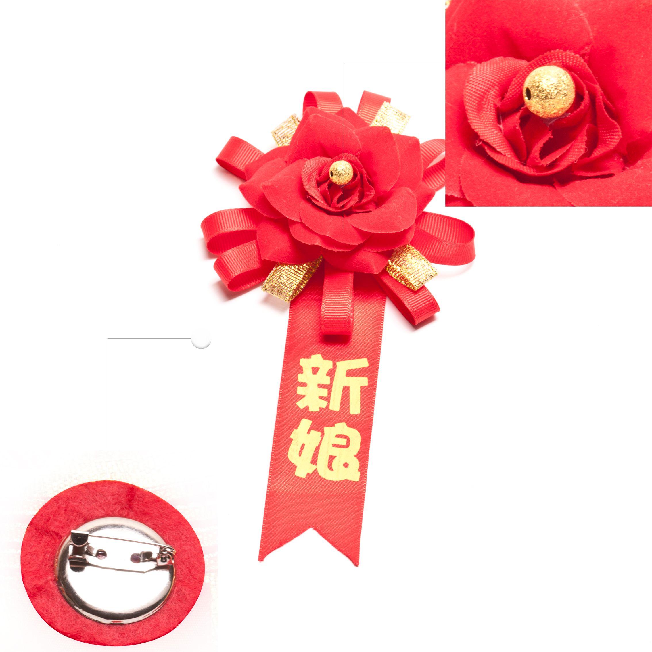 婚庆胸花仿真玫瑰花手工新郎新娘手腕花批发结婚胸花创意个性定制