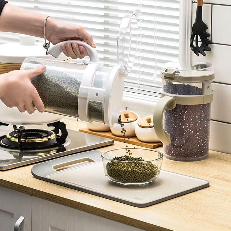 五谷杂粮多功能储物罐 密封塑料罐 保鲜罐 厨房叠加罐
