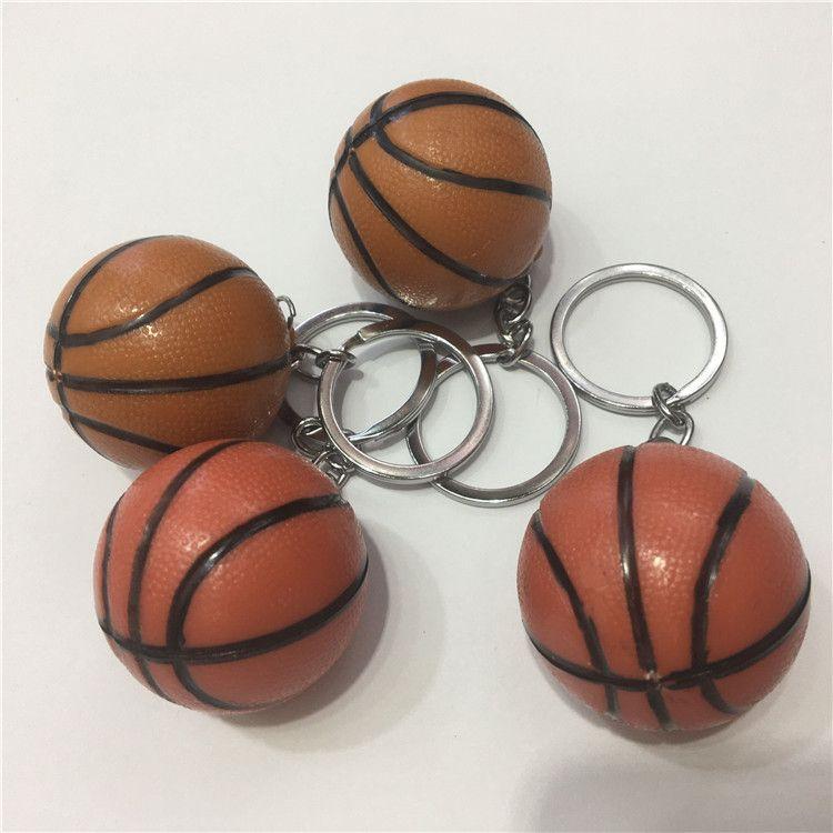 足球蓝球3D立体钥匙扣创意包包小挂件动漫卡通软胶钥匙圈礼品批发
