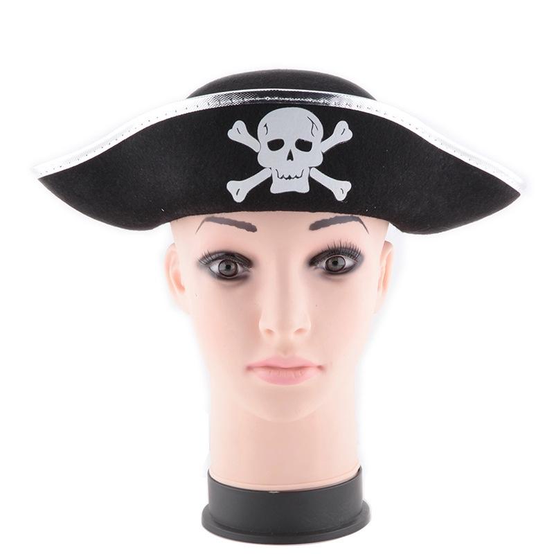 万圣节海盗船长帽海盗演出道具帽加勒比海盗船长帽子万圣节帽子