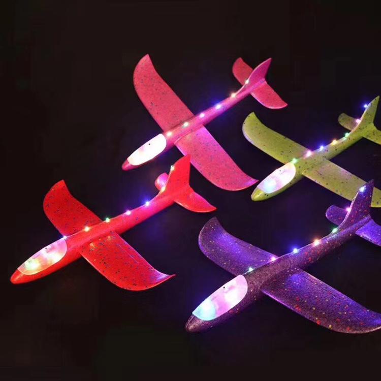 义乌宏彦玩具批发儿童发光泡沫飞机幼儿园学校夜市景点地摊热卖