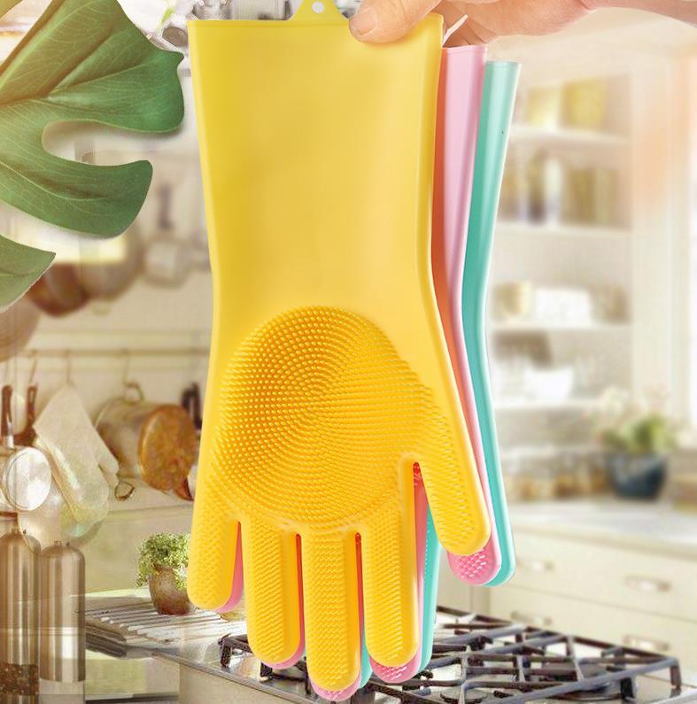 厂家直销网红硅胶洗碗手套
