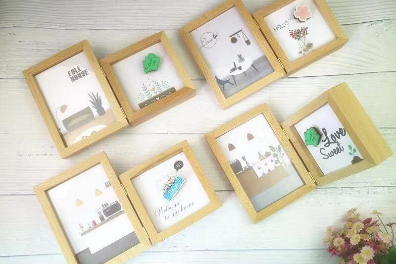 木质相框🖼️多肉植物盆栽音乐盒自动播放八音盒