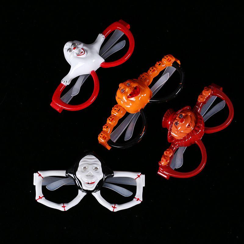 厂家直销 发光玩具 万圣节演唱会助威道具 骷髅头荧光眼镜 批发