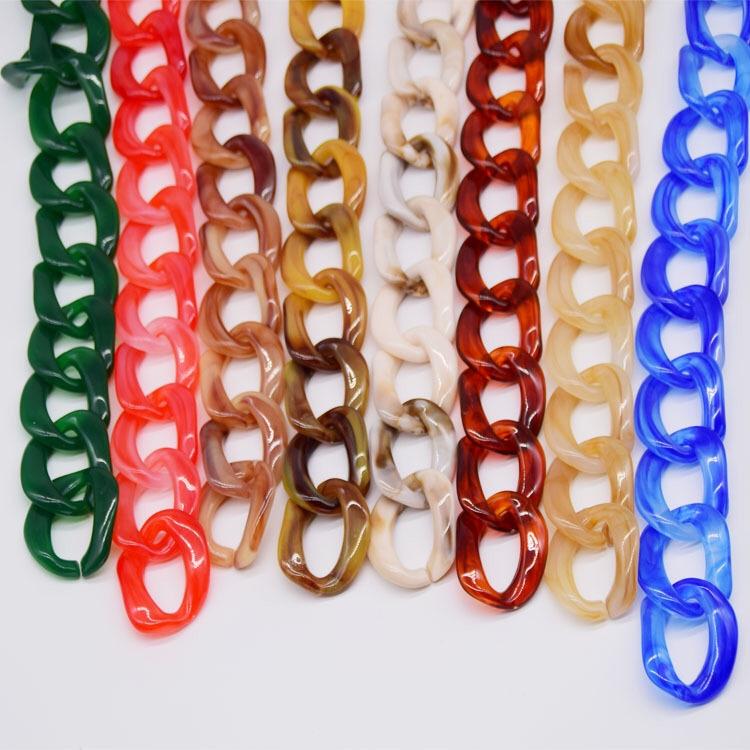 【厂家供应】亚克力树脂塑料UAS料豹纹链条  亚克力项链包链配件