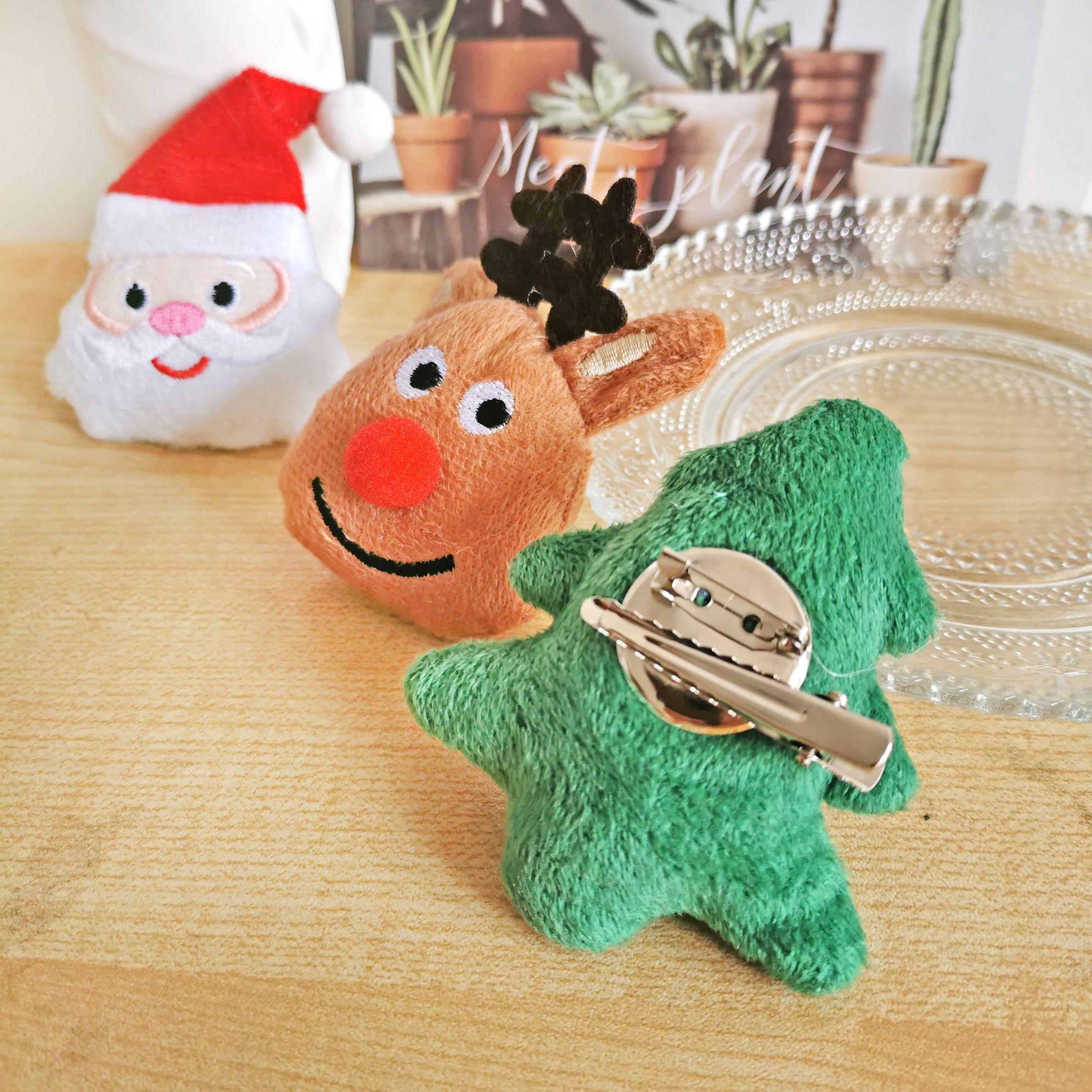 圣诞新款胸针夹子两用防走光胸饰头饰儿童表演道具节日礼物