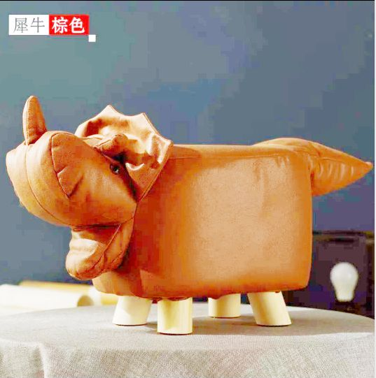 阁莱创意卡通版系列动物小木凳室内客厅坐凳