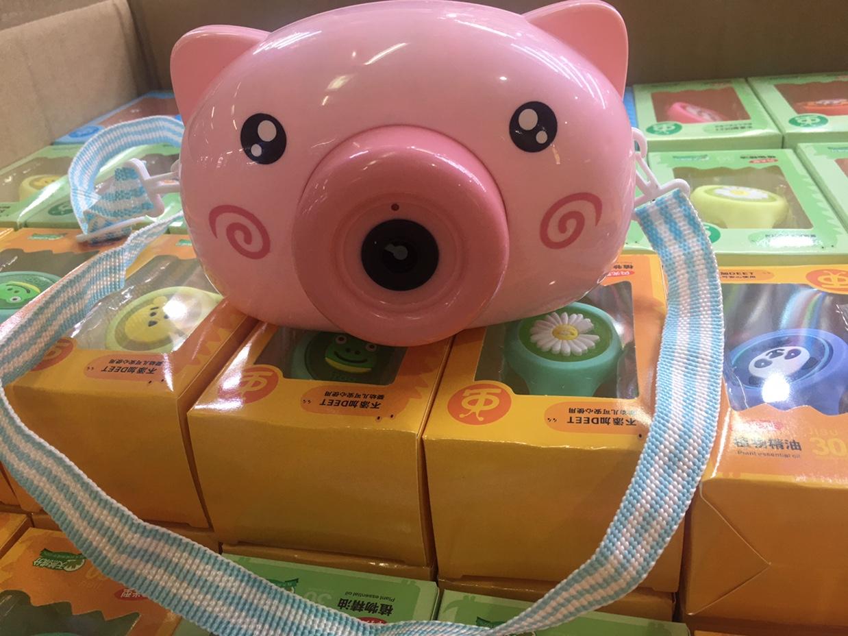 小猪泡泡机,吹泡机,音乐灯光吹泡机