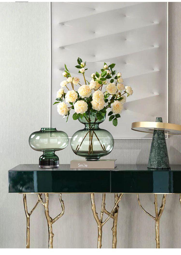 简约现代轻奢玻璃花瓶透明水培插花瓶北欧客厅餐桌家居装饰品摆件