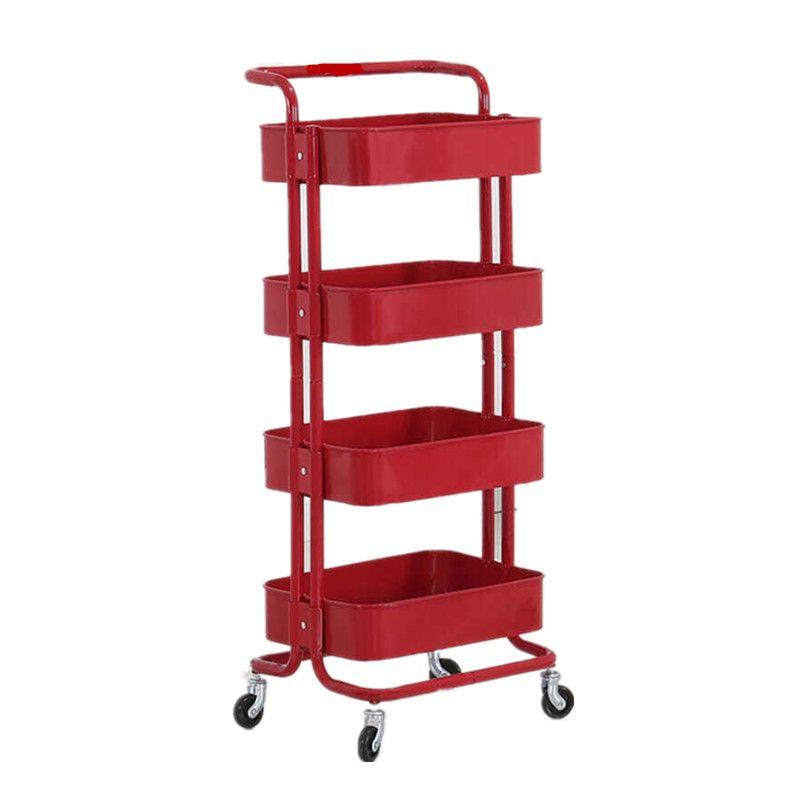 三层把手手推车 宜家三层置物架同款 厨房置物架 可移动收纳架