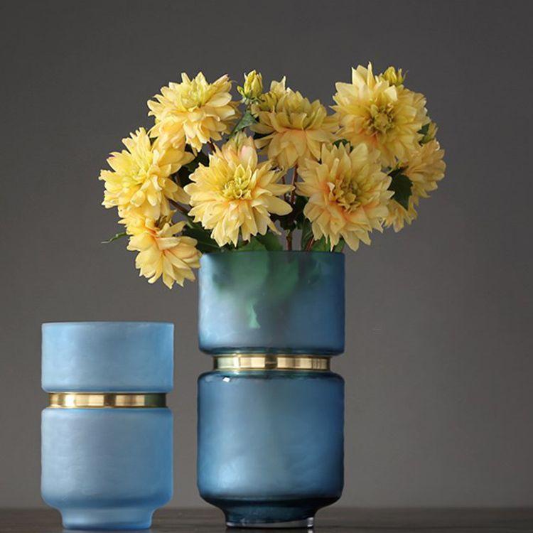 旭阳玻璃简约花瓶插花摆件轻奢客厅玄关餐桌样板房家居软装饰品21
