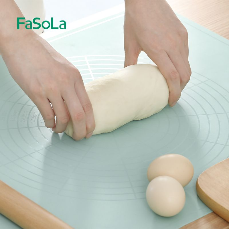 日式FaSoLa防滑揉面垫硅胶垫耐高温烘焙工具和面板案板