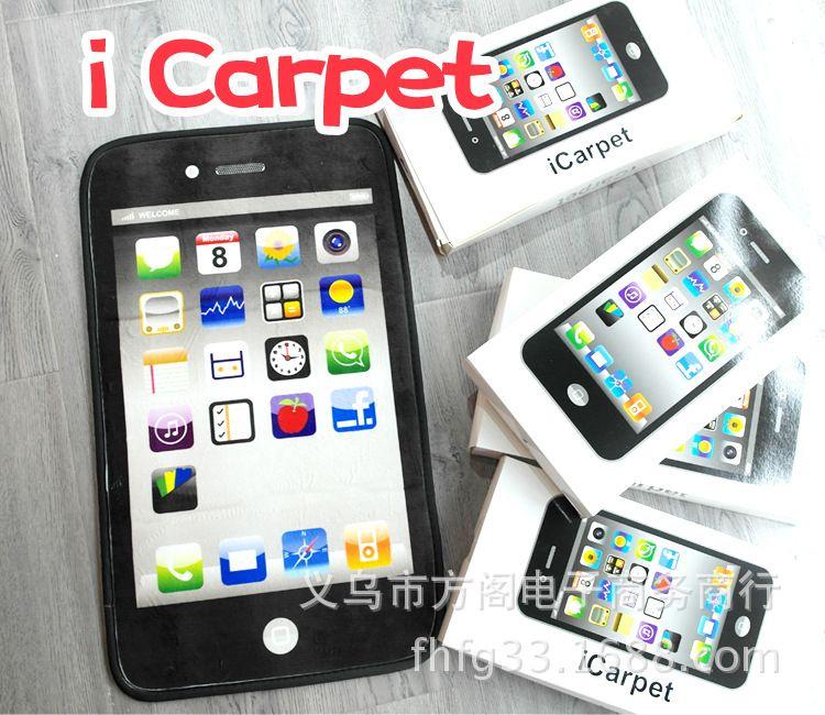 手机造型地垫 创意地垫地毯 手机图案地垫地毯 手机地垫