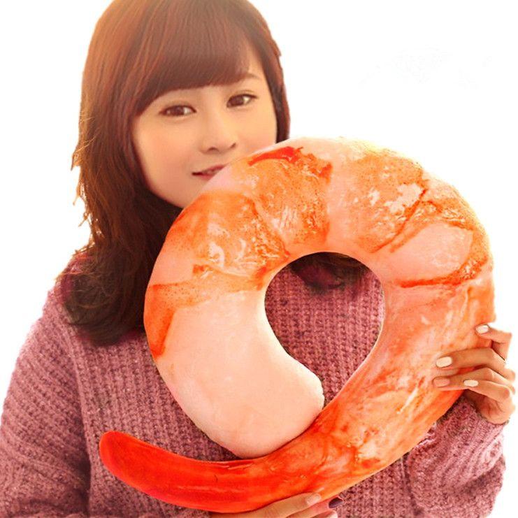 创意仿真大虾抱枕