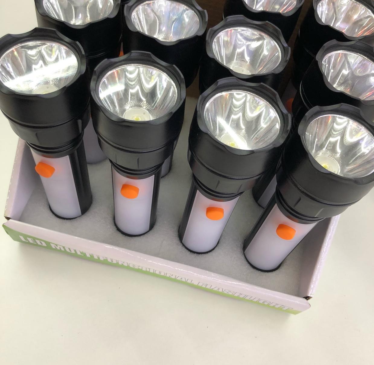 LY-12 LED手电筒 AA电池4节手电筒 LED塑料电筒 礼品小手电筒批发 红光警示白光照明