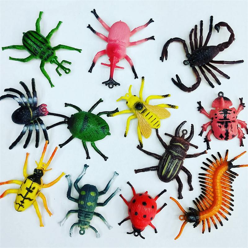 仿真昆虫模型塑胶模型玩具水晶泥太空沙配件沙盘摆件儿童玩具