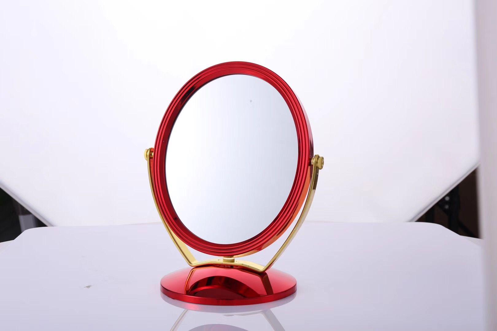 化妆镜台式女网红美妆补光小镜子桌面便携梳妆镜椭圆镜