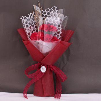 批发肥皂花香皂康乃馨花束3朵母亲节护士节礼物创意小礼品亚马逊