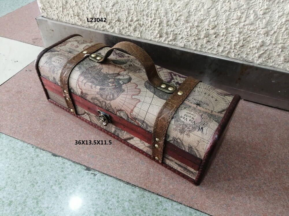 爆款红酒盒复古工艺手工制作厂家直销来样订做
