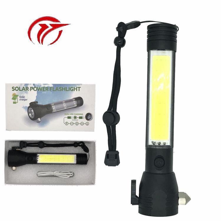 新款多功能led手电 USB充电便携手电筒 强光手电厂家直销