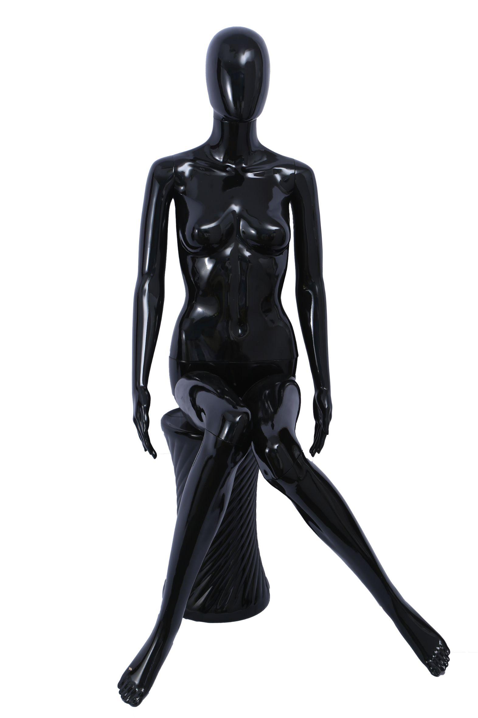 旭峰塑料模特喷漆坐姿化妆头PP料女坐模