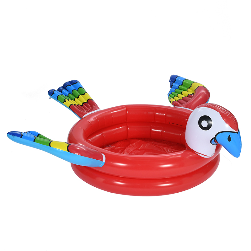 创意儿童卡通鹦鹉游泳池加厚泳池家用游泳池