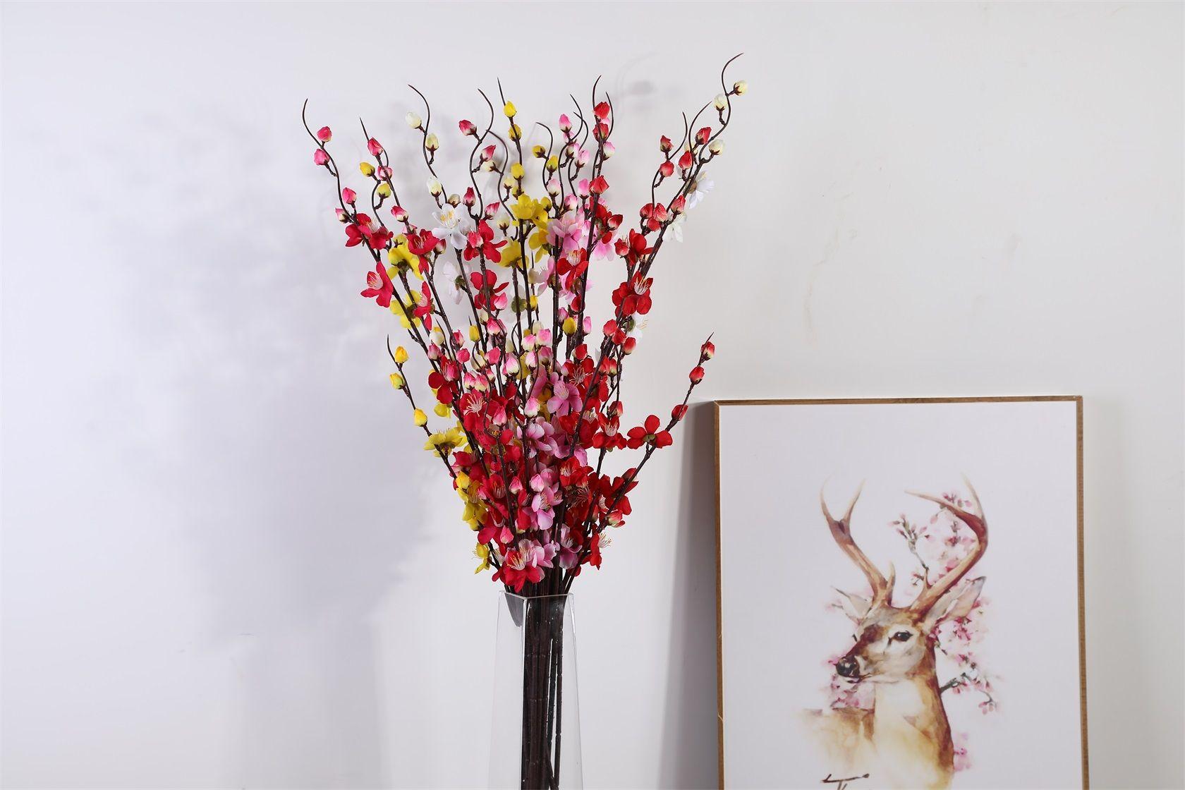 中式腊梅花日式樱花仿真花婚庆家居墙摄影布景 跨境假花一件代发