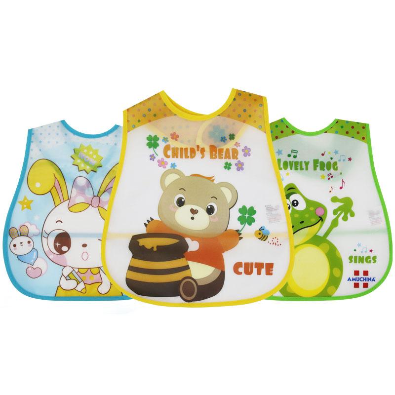 厂家批发防水围嘴 宝宝吃饭免洗围兜 EVA罩衣新款婴儿围兜定制做
