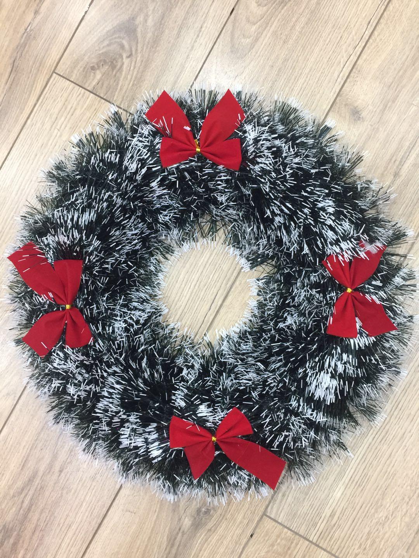 圣诞节装饰拉花彩条茜草节日装饰品婚庆拉花新款圣诞花环圣诞节万圣节花环